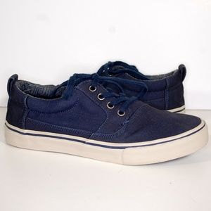 Mens Toms Valdez Navy Cotton Twill Canvas Sneakers